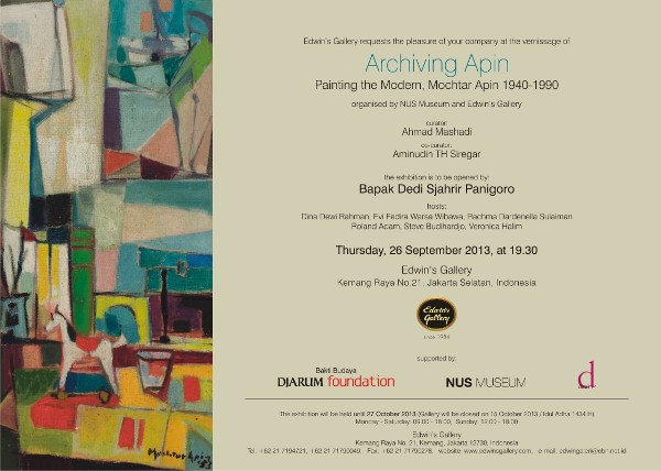 Archiving Apin: Painting the Modern, Mochtar Apin 1940-1990