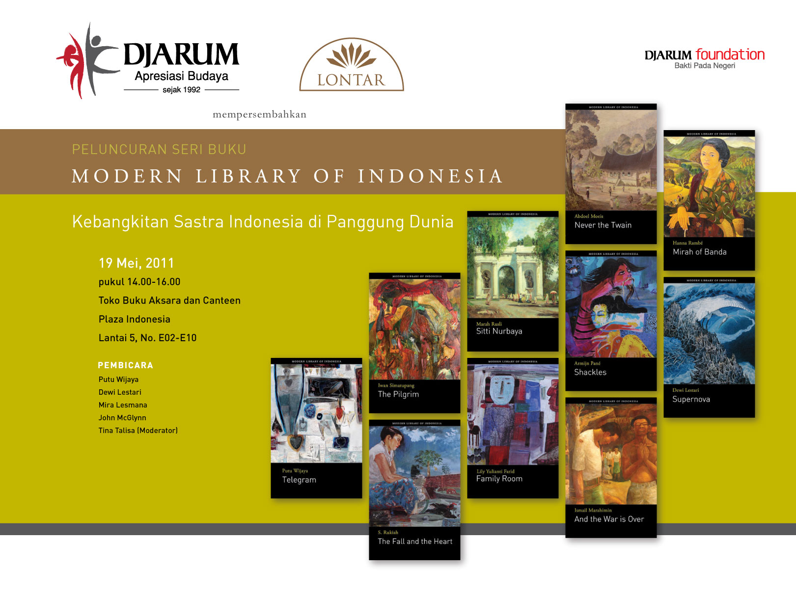 Modern Library Of Indonesia Tahun 2011