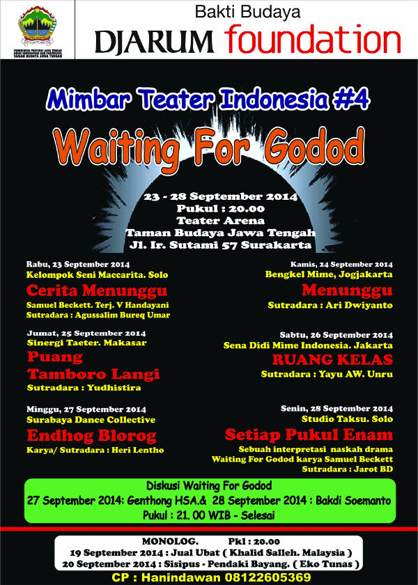 Mimbar Teater Indonesia (MTI) Ke-4: Waiting For Godot