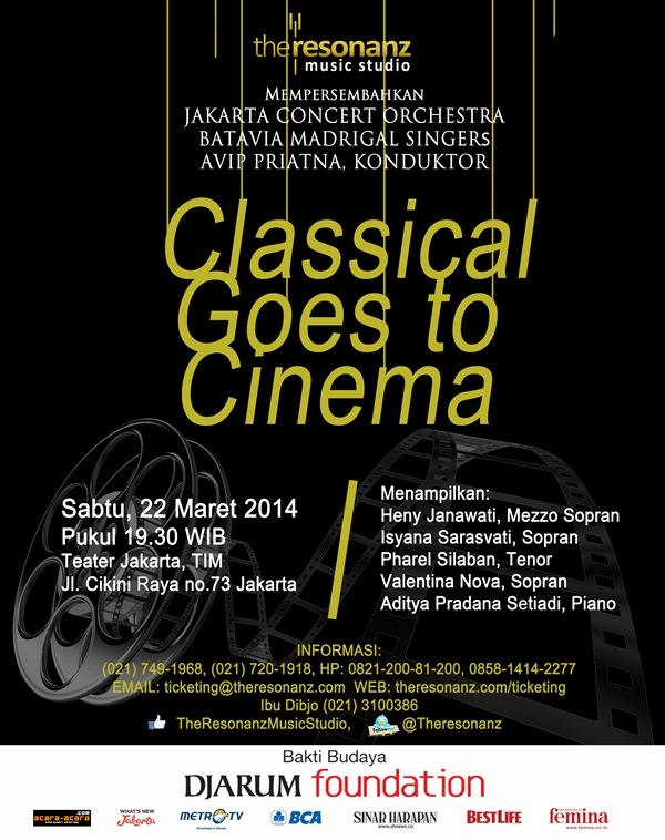 "Konser Musik Klasik ""Classical Goes To Cinema"""