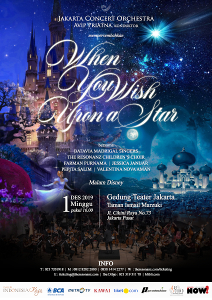 """Jakarta Concert Orchestra Mempersembahkan Konser """"When You Wish Upon a Star"""""""