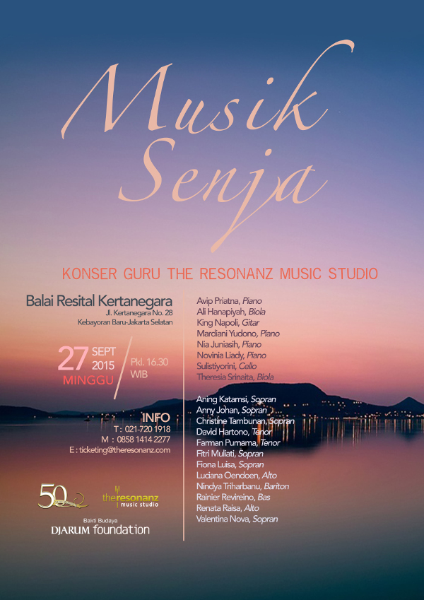 """Musik Senja"", Konser Guru-Guru The Resonanz Music Studio"