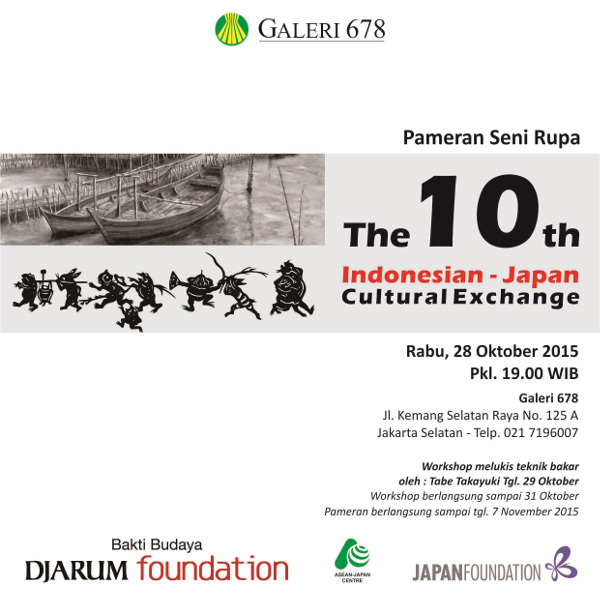 "Pameran Seni Rupa SSIA ""The 10th Indonesia - Japan Cultural Exchange"""